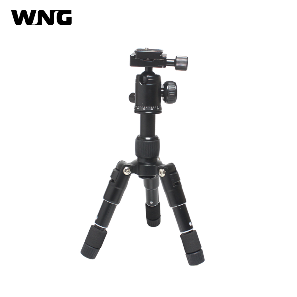 Compact Aluminum Tripod Desktop Mini Tripod Lightweight Camera Tripod with Ball Head for Canon Nikon DSLR Camera Flexible Tripod mefoto a0320q00 aluminum alloy mini camera tripod portable desktop tripod stand support steady hold camera with tripod head