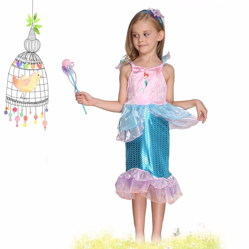 ღ ღHalloween Navidad Cosplay traje para Niños Little Mermaid Fancy ...