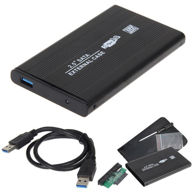 2.5 Inch SATA Ốp Lưng Sang Sata USB 3.0 SSD HD Cứng Đĩa Lưu Trữ Bên Ngoài Vỏ Hộp cáp USB 3.0