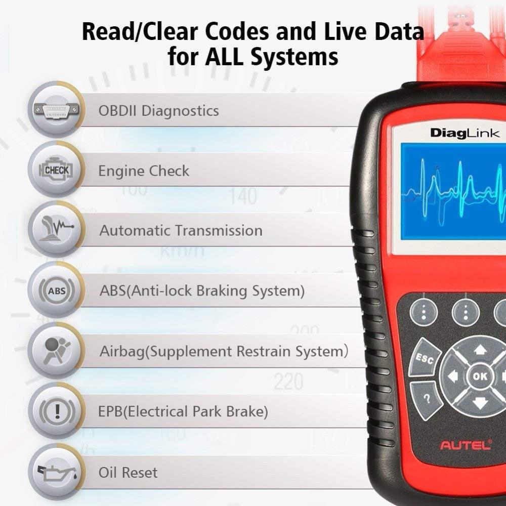 Image 3 - Autel DiagLink полная система OBD2 автомобильный сканер для диагностики инструмент OBD 2 считыватель кода EOBD двигатель ABS подушка безопасности Трансмиссия PK MD802 MD805-in Считыватели кодов и сканирующие инструменты from Автомобили и мотоциклы