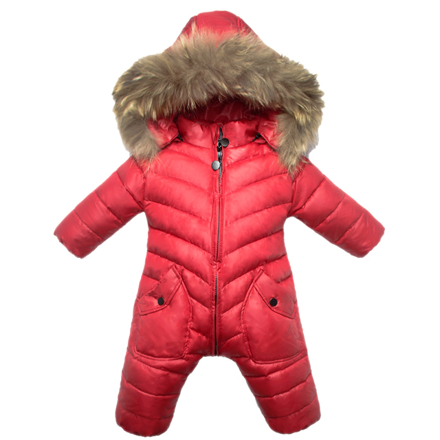 d94e5cc6ad27 New style baby winter jumpsuit with fleece lining rompers infant boy ...