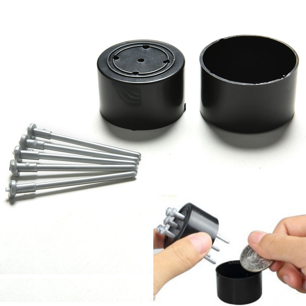 1Pc Hot Selling Funny Gadgets Close Up Tricks Illusion Kids Toy Nail Spike Through Coin Penetrate The Drum Magic Props