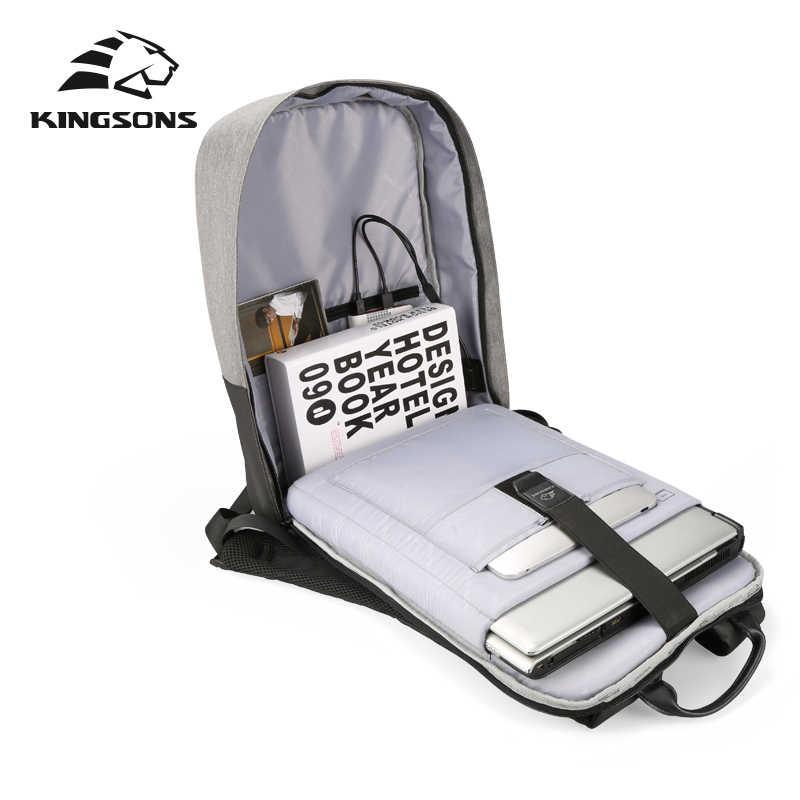 Kingsons 2018 15.6 Inch Laptop Baru Pria Ransel Fashion Perjalanan Paket Tas Bagpack Kasual Ransel Pria Terbaik Mahasiswa