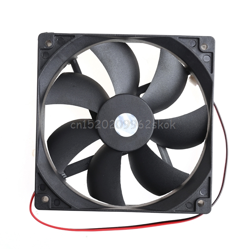 12cm High Speed Computer DC 12V 2Pin PC Case System Hydraulic Cooling Fan 12025 #H029# gdstime 10 pcs dc 12v 14025 pc case cooling fan 140mm x 25mm 14cm 2 wire 2pin connector computer 140x140x25mm