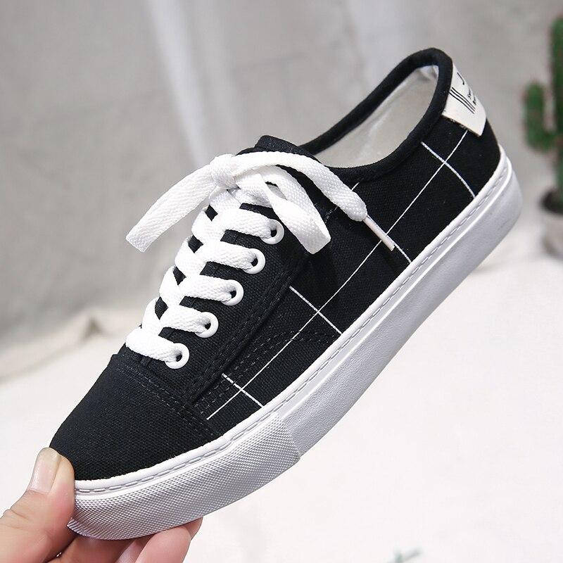Fashion Plaid Women Casual Shoes Women