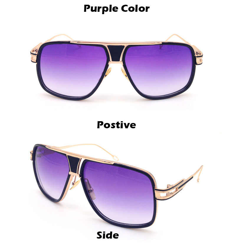 f64ffc8375b ... 2018 New Fashion Big Frame Sunglasses Men Square Fashion Glasses for  Women High Quality Retro Sun