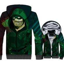 3D Print Anime Hoodies Male 2018 Brand Clothes Winter Zipper Mens Coat Streetwear Superhero Arrow Tracksuit Harajuku Jakcet Top