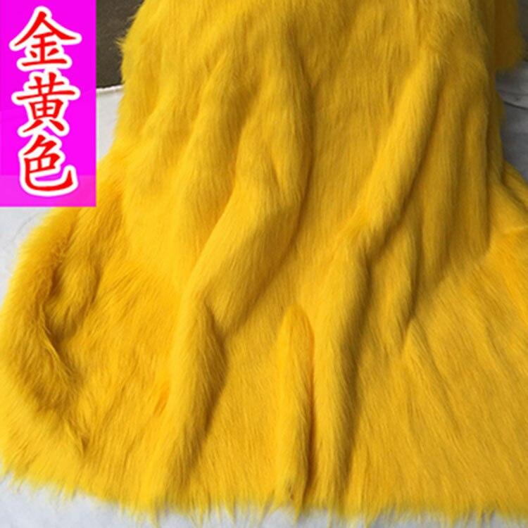 PLUSH YELLOW BLACK Super Luxury Faux Fur Fabric Material