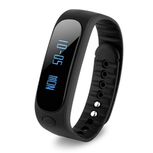 Bluetooth 4.0 Smart Watch Wristband Health Bracelet Sport Sleep Fitness Tracker Black+blue