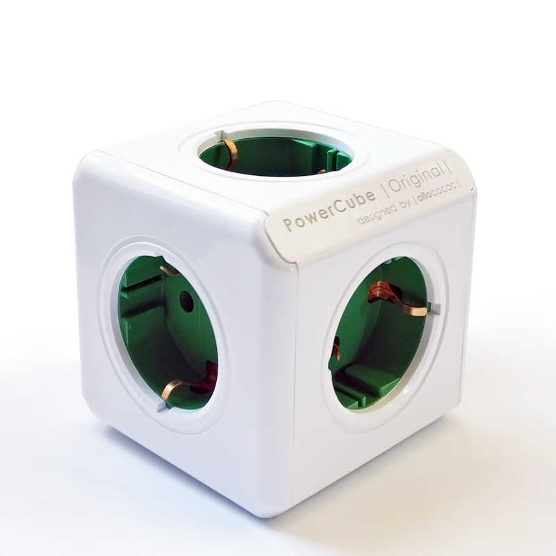 Allocacoc الذكية المنزل استخدام 5 منافذ الاتحاد الأوروبي التوصيل الكهربائية شاحن الطاقة قطاع powercube متعددة شمعة تمديد مأخذ (فيشة) ذكي حوض السفر
