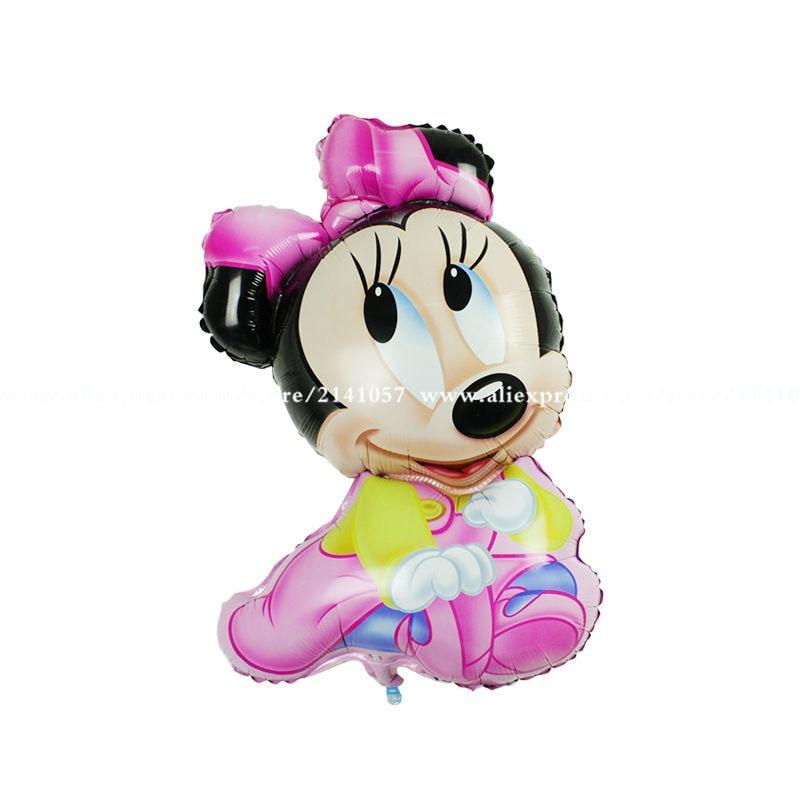 ٩(^‿^)۶Envío libre 50 unids/lote hoja Globos Minnie juguetes de los ...