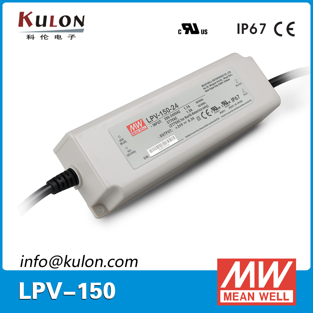 цена на Original Mean Well LPV-150-24 AC/DC led driver Single output 151.2W 24V 6.3A meanwell LED power supply