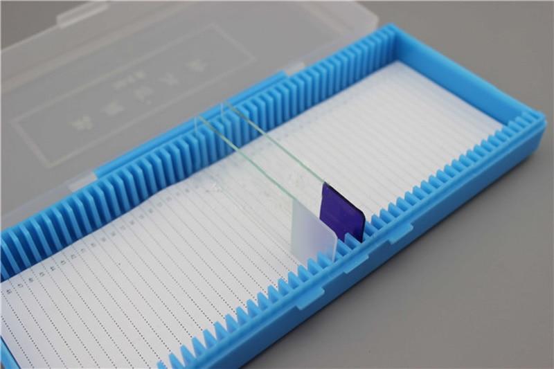 2 darabos hordozható laboratóriumi ABS műanyag mikroszkóp - Mérőműszerek - Fénykép 4