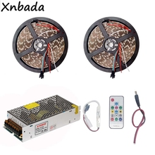 5M 10M WS2812B WS2812 RGB Led Strip Light,DC5V SP103E 14Keys Remote Controller Power Supply Adapter Kit