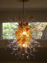 Free Shipping 110v/120v LED Bulbs Mini Colored Chinese Modern Murano Glass Chandelier цена и фото