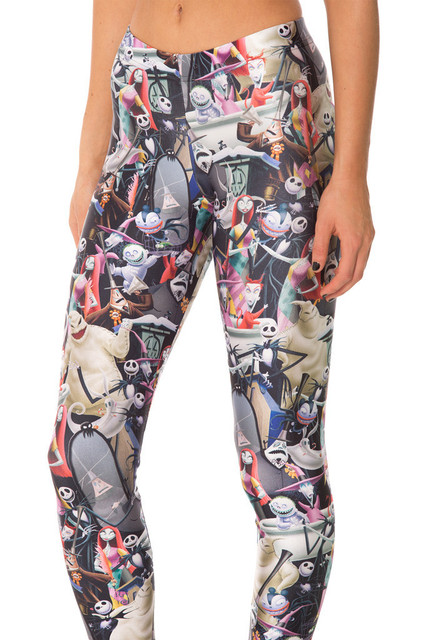 hot selling 2015 new style fashion harajuku 3d printed nightmare before christmas legging womens high quality - Nightmare Before Christmas Leggings