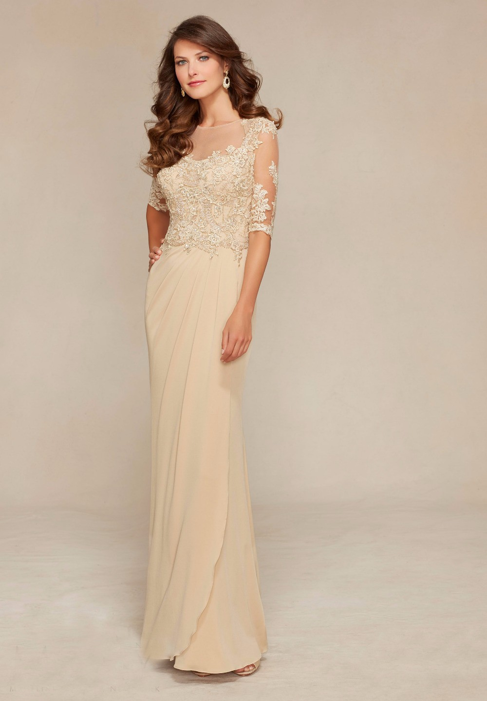 Custom-Made-Mother-Of-The-Bride-Dress-Gowns-Lace-Beading-Half-Sleeves-Godmother-Dresses-Trajes-de (2)