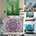 Summer hippie Mandala tapestry Beach Boho Pareo Sarong Wrap Shawl Blanket Beach Towel hanging wall Tapestry Cover up