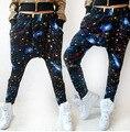 De las mujeres HipHop Ocasional Colorido Tie Dye Estrella Patrón Harem Holgado Danza Sudor Pantalones Pantalones Traje de la Ropa de Moda