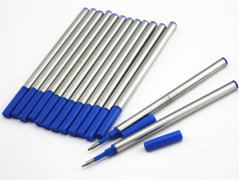 10Pcs/set High Quality Blue Gel Pens Ink Refill 0.7mm Refills For Roller Ball Pens Office Stationery Free Shipping