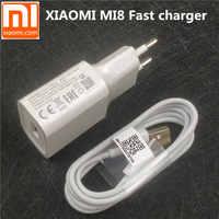 Original EU xiaomi Fast charger for mi 9 8 mi8 mi9 mi6 mix 3 2 2s a1 a2 max 6 QC 3.0 quick charge adapter USB Type c cable
