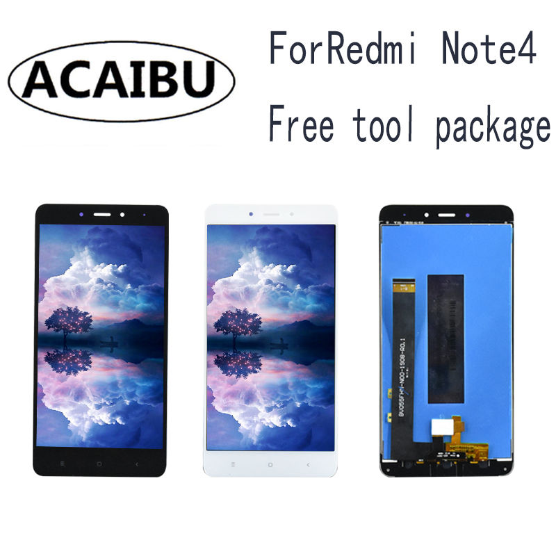 For Xiaomi Note 4 MediaTek MTK LCD Helio X20 Touch Screen Digitizer + Display 5.5 Free Shipping Digitizer Assembly Replacement