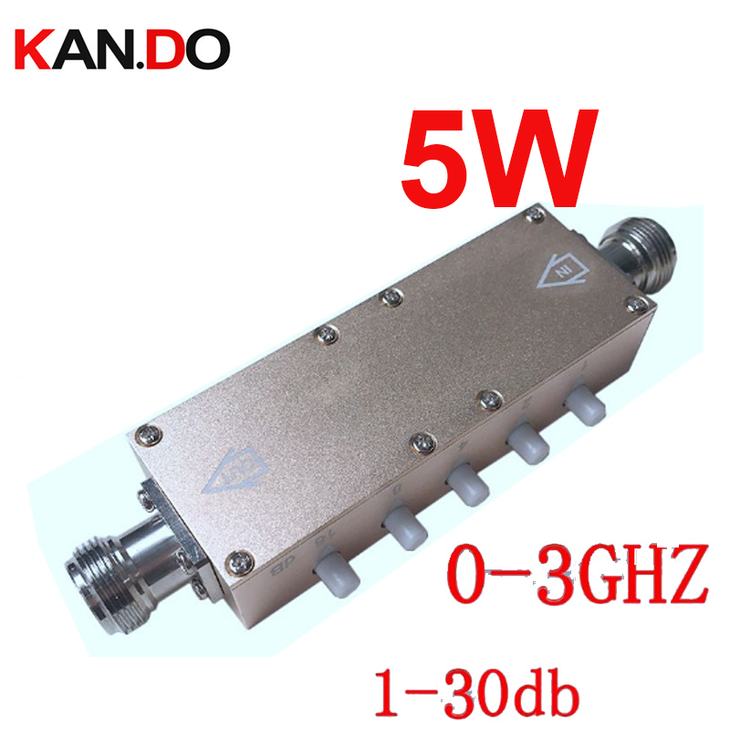 5W key press 0-30db ajustable radio frequency attenuator n connector DC-3Ghz attenuation connector RF COAXIAL jack Attenuator5W key press 0-30db ajustable radio frequency attenuator n connector DC-3Ghz attenuation connector RF COAXIAL jack Attenuator