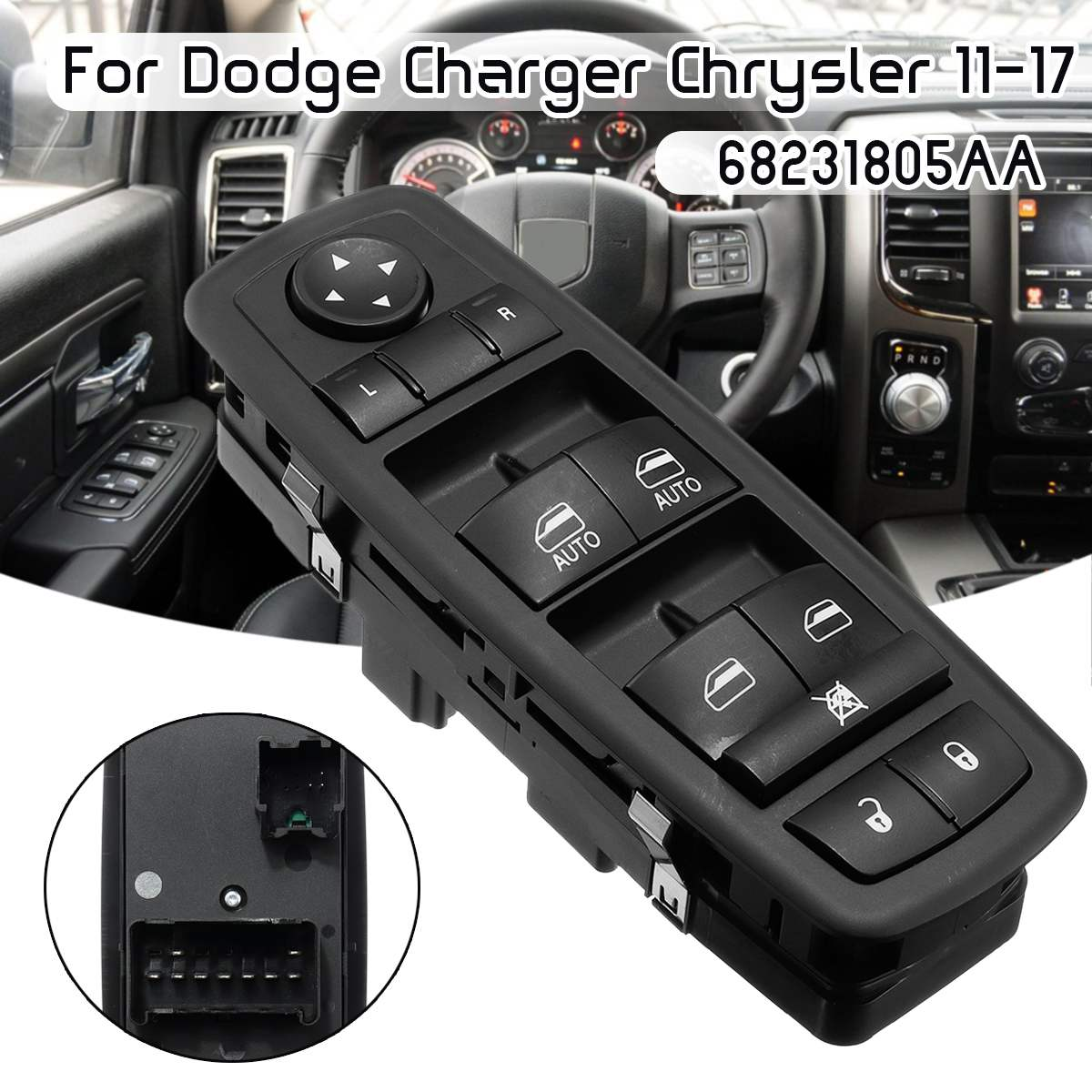 Master Window Switch Front Left 68231805AA For Dodge Charger Chrysler 2011-2017