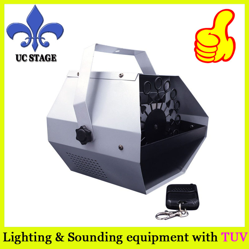 цена на 220V/110V DHL Shipping 60W Mini Bubble Machine Stage Effect Machine Remote control