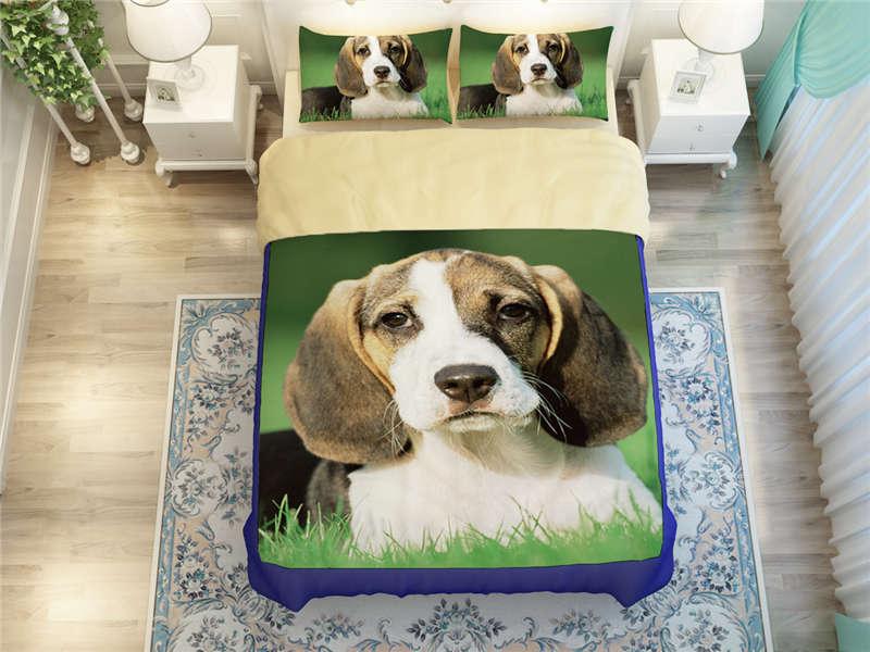 Aliexpresscom Buy cute 3d Christmas Beagle Dogs print bedding