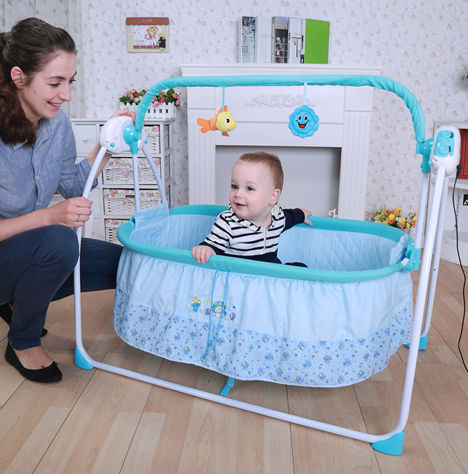 Hot Sale Baby Intelligent Electric Rocking Chair Electric Crib Baby Bed Electric Swing Baby Bed Modern Rocking Chair ноутбук hp omen 17 an018ur 2cm07ea intel core i7 7700hq 2 8 ghz 8192mb 1000gb dvd rw nvidia geforce gtx 1050 2048mb wi fi cam 17 3 1920x1080 windows 10 64 bit