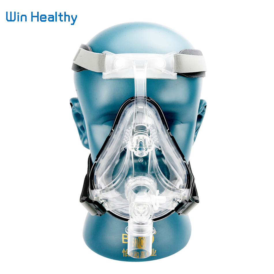 BMC FM1 Full Face Mask For Snoring Apply To Medical CPAP BiPAP Silicone Gel Material Size