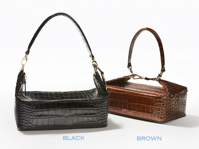 1a5b9b8dd495 TOPHIGH Crocodile Pattern Box Bag Women Leather Handbag Vintage Top-handle  Lady Clut Purse Clutch Luxury Wallet Evening Bag F154