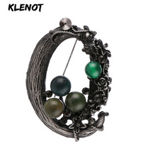 Stone Brooch Flower Pins and Brooches for Women Jewelry Ancient Silver Flower Brooch Natural Gemstone Craft Material Scarf Pins stone brooch flower pins and brooches for women jewelry ancient silver flower brooch natural gemstone craft material scarf pins