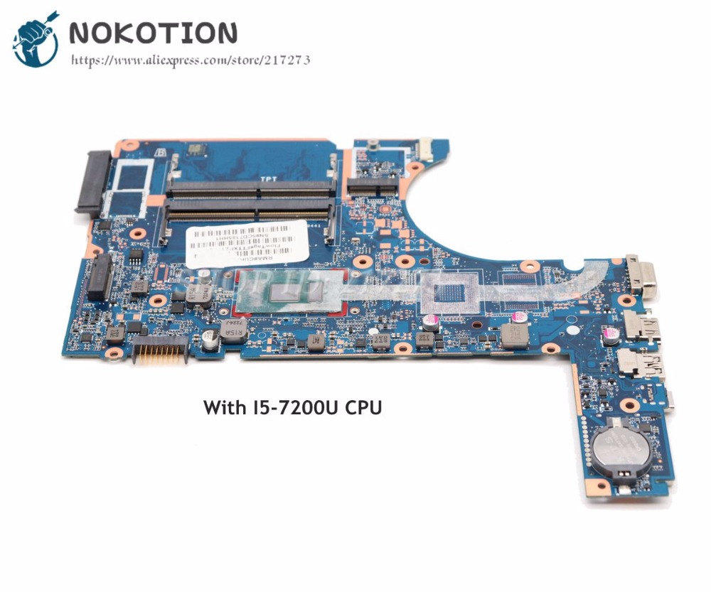 NOKOTION Laptop Motherboard For HP <font><b>450</b></font> G4 470 MAIN BOARD DA0X83MB6H0 SR2ZU i5-7200U CPU image