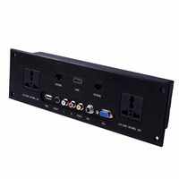 wall socket \ HD HDMI Video audio VGA NETWORK RJ45 information outlet panel /multimedia home hotel rooms KTV wall socket TY W01