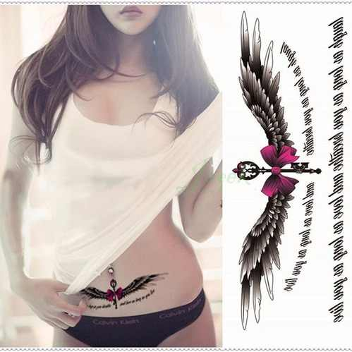 4ebd134b2ac7b Detail Feedback Questions about Waterproof Temporary Tattoo Sticker on body  big size angel wings tatto stickers flash tatoo fake tattoos for girl women  on ...