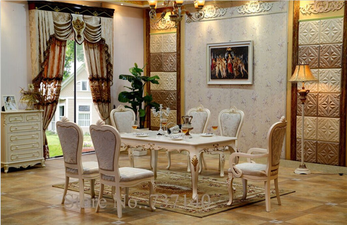 hot sell white dining table luxury furniture dining table square table retro table set buying agent wholesale price - Oak Table And Chairs