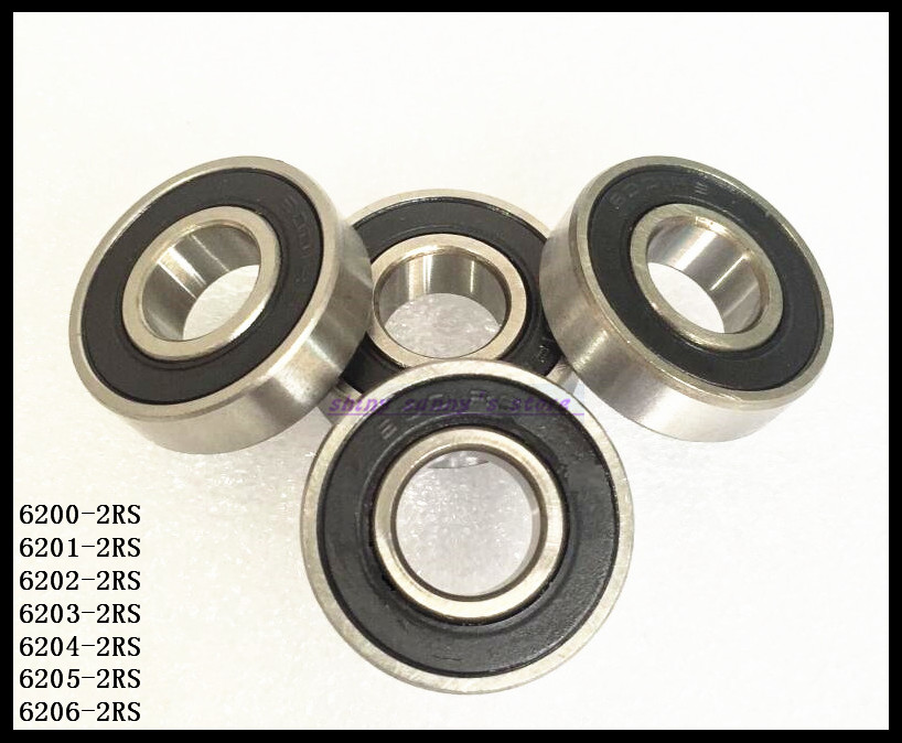 5pcs/Lot 6206-2RS 6206 RS 30x62x16mm Rubber Sealed Deep Groove Ball Bearing Miniature Bearing Brand New 6206 2rs full zro2 ceramic deep groove ball bearing 30x62x16mm 6206 2rs