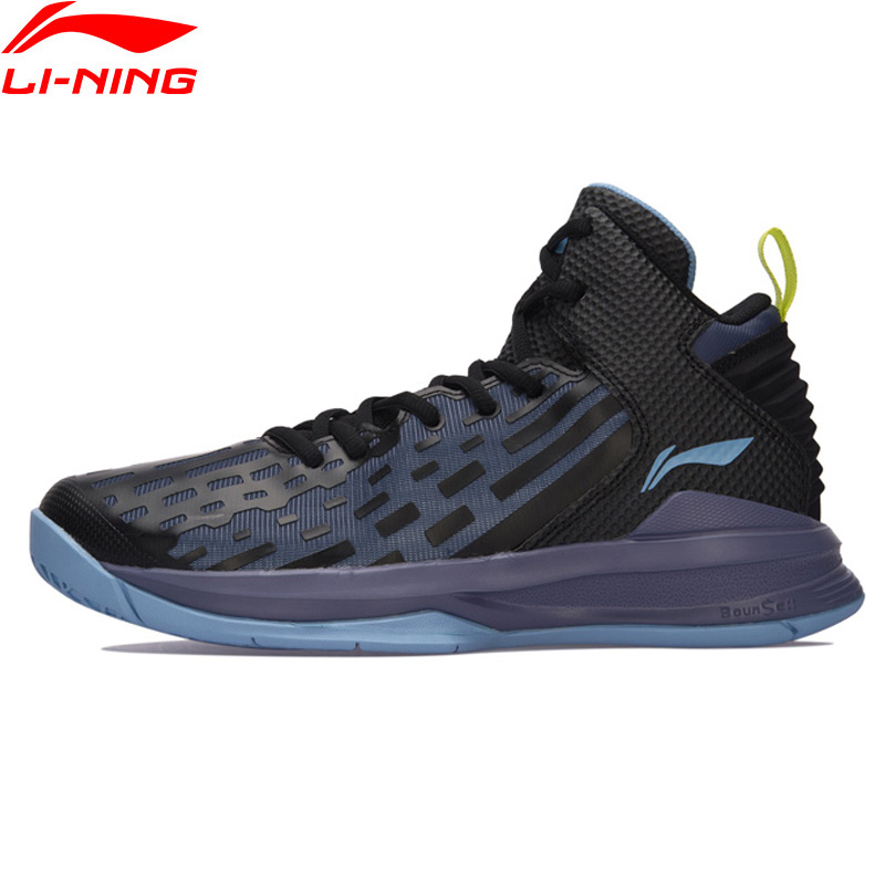 Li-Ning Men On Court Basketball Shoes Bounse+ Cushion LiNing Sports Shoes TPU Support Sneakers ABPM027 XYL120 li ning brand men basketball shoes sonicv series professional camouflage sneakers support lining breathable sports shoes abam019