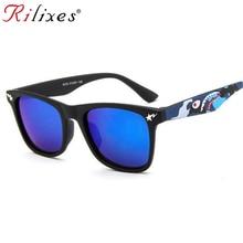 RILIXES Cool Baby Boy Girls Kids Sunglasses Top Fashion Coating Sunglas
