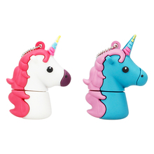Mini Usb Flash Drive 32GB Usb Stick 64GB 128GB Pen Drive High Speed Cartoon Unicorn U Disk 2.0 4G 8G 16GB Pendrive Free Shipping стоимость