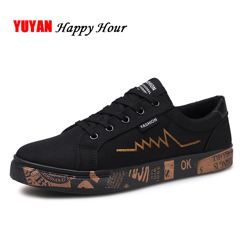 a79d61ac588 New 2019 Spring Summer Canvas Shoes Men Sneakers Low top Black Shoes ...