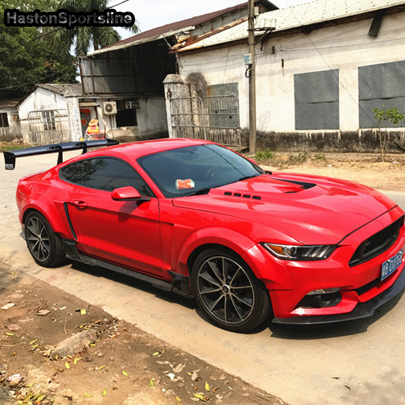 Mustang Modified V Style Carbon Fiber Rear Trunk Lip Spoiler Car Wing for Ford Mustang 2015 2016 2017 carbon fiber nism style hood lip bonnet lip attachement valance accessories parts for nissan skyline r32 gtr gts