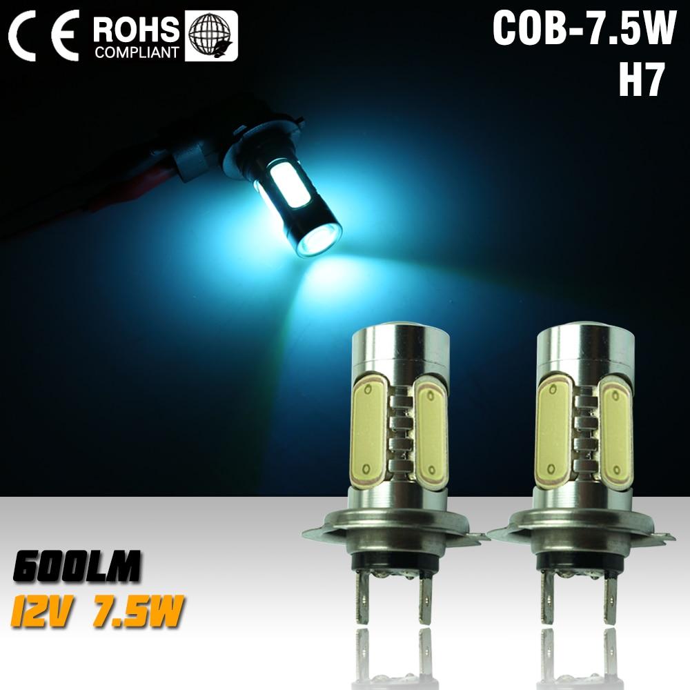 H7 led High Power 7.5W 5LED Fog Head Tail Driving Car Light Bulb Lamp DC 12V H7 7.5W parking car light ice blue
