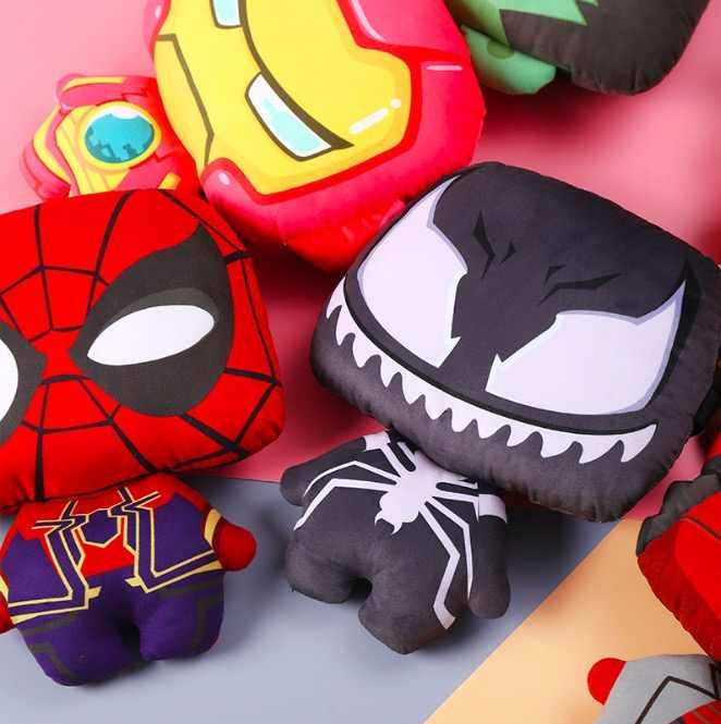 Os Vingadores Thor Spiderman Batman Deadpool Thanos Protegido Do Assento de Carro Pescoço Travesseiro Recheado De Pelúcia Boneca Brinquedos de Presente de Natal SA1894