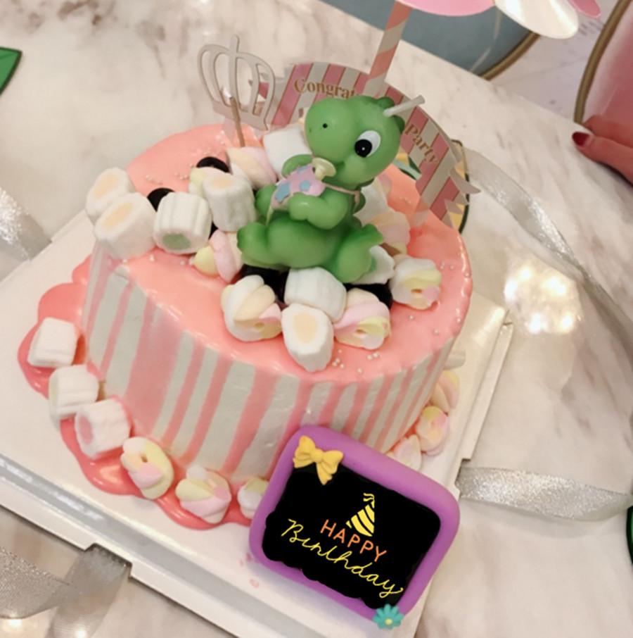 Childrens Birthday Party Candles Cake Dinosaur Baby Present Or Gift For Kids Children In From Home Garden On