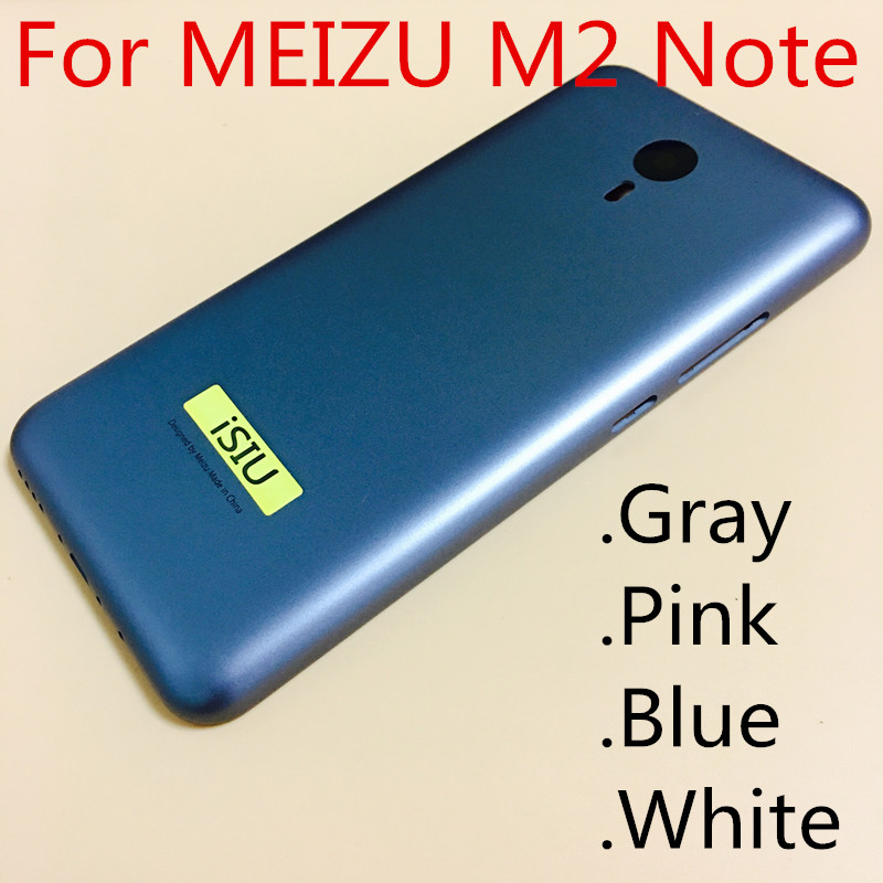 iSIU Phone Case For Meizu M2 Note Mobile Phone Back Cover Case M2 Note Battery Housing NO SIM Card Tray Gray Blue Pink White