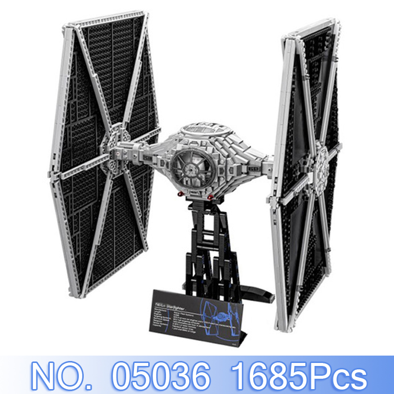 Lepin 05036 1685Pcs Star Wars The Tie Fighter Model Building Kits Blocks Bricks Compatible With 75095 Set Toys For Children Gift lepin tie fighter 05036 1685pcs star series wars building bricks educational blocks toys for children gift compatible with 75095