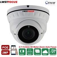 LWSTFOCUS 2.7mm-13.5mm Zoom Lens Napędem 2MP Kamera IR 30 M Kamera IP POE Odkryty Wodoodporna CCTV Kamera Sieciowa ONVIF WDR